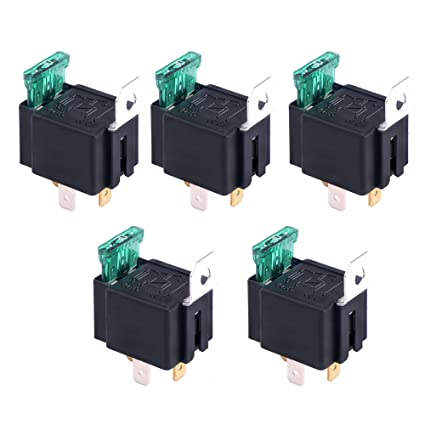 Doradus 5Pcs SONGLE Mini 12V DC Power Relay SRD-12VDC-SL-C PCB Type