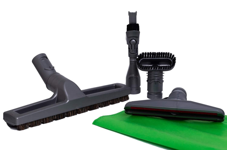 Kit de 4 Cepillos para aspiradoras Dyson: Cepillo de cerdas, Cepillo rígido, Accesorio para colchones, Accesorio combinable 2-en-1.