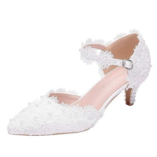 ee715c989 Magiyard_Shoes Escarpins Blanc Femme Mariage, Sandales Femme Petit ...