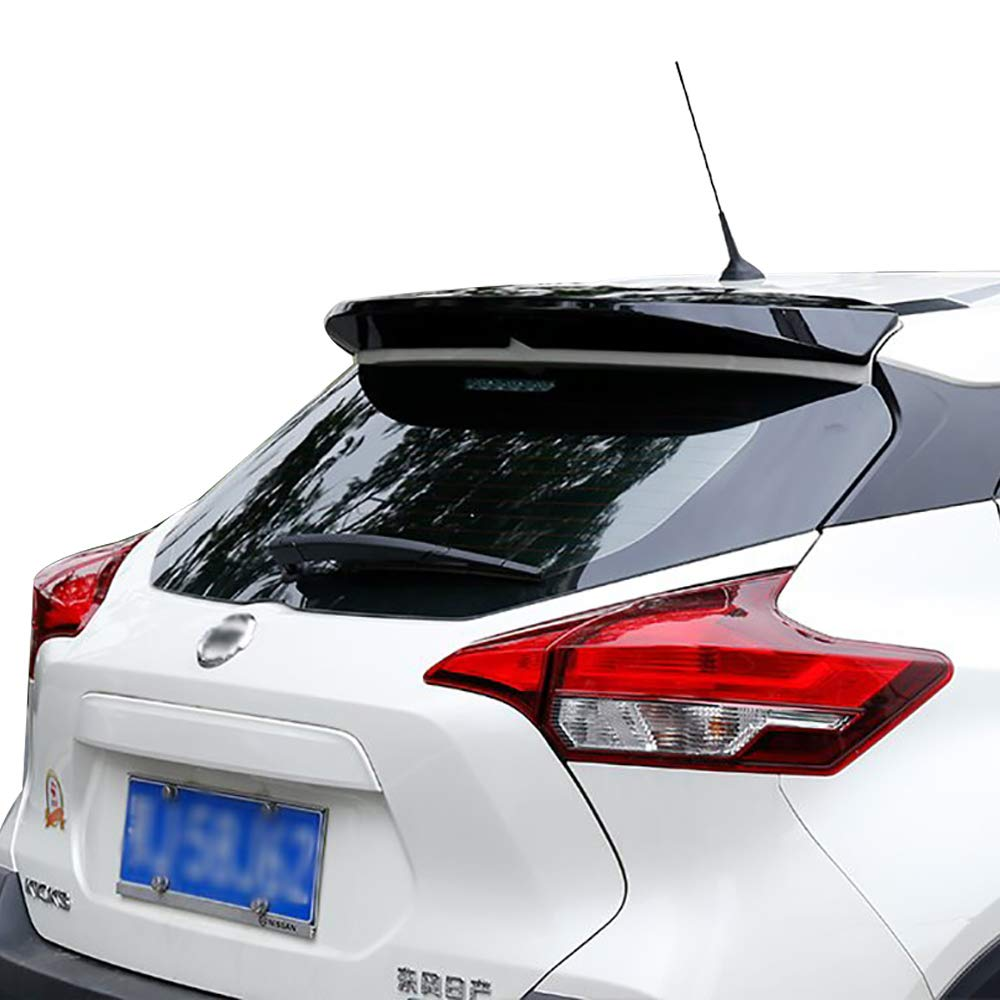 for Nissan Kicks 2017 2018 2019 ABS Plastic Gloss Black Color Rear Roof Spoiler Trunk Wing Lip Boot Cover Auto Part