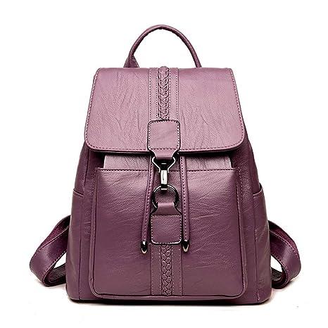Chicas para Mochilas Purple Bandolera de de Mujer Cuero Escuela Adolescentes Bolso Mochila X6qBYwn