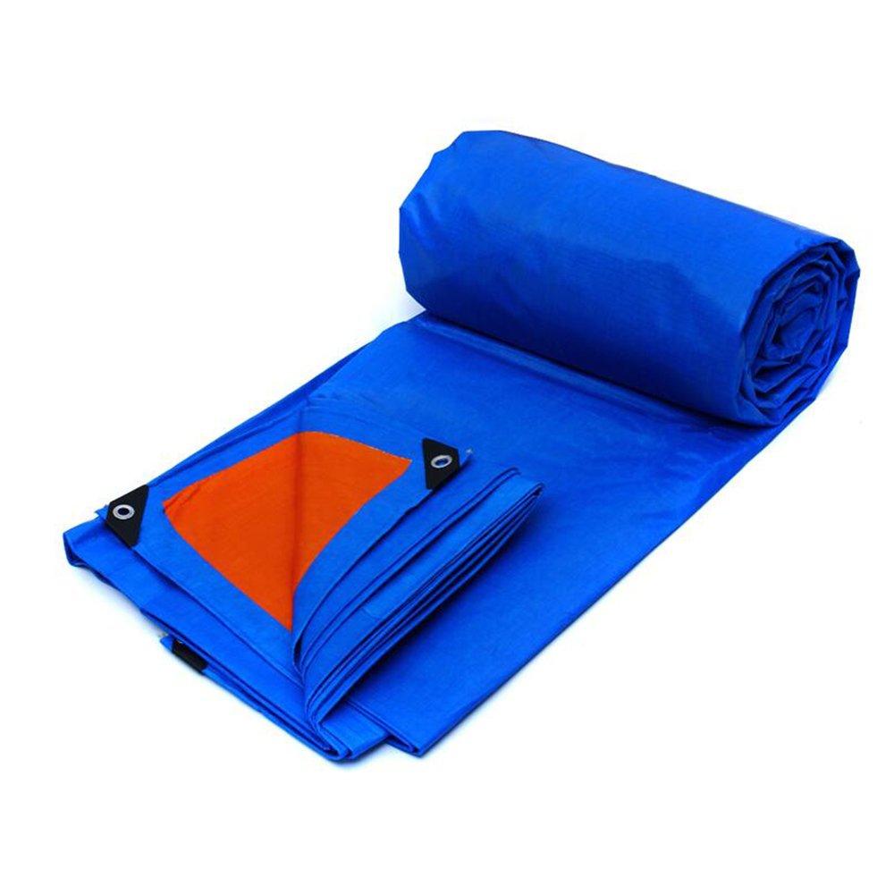 YNN ヘビーデューティターポリン、高密度編みポリエチレン、ダブルラミネート180g/m²、ブルー-100%防水、UV保護 防水シート (色 : Blue+Orange, サイズ さいず : 7 * 5m) B07FNSKW85 7*5m|Blue+Orange Blue+Orange 7*5m