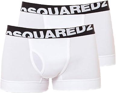 DSQUARED2 Hombres Boxer Shorts, Paquete de 2 - Algodón Stretch ...