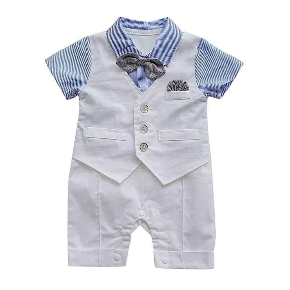 iiniim Baby Boys Infant One Piece Gentleman Formal Jumpsuit Romper Suit Outfit Clothes