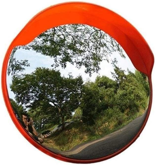 ZXL 45-120CM Road Garage Mirror, Plastic Wide-Angle Lens Outdoor Convex Safety Mirror Durable Easy to Install Anti-Theft Mirror Safety (Size : 55CM)