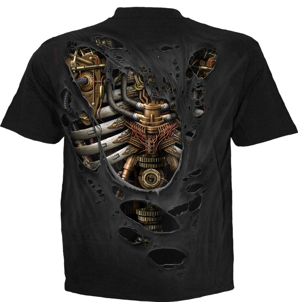 Spiral - Steam Punk Ripped - T-Shirt Black 4