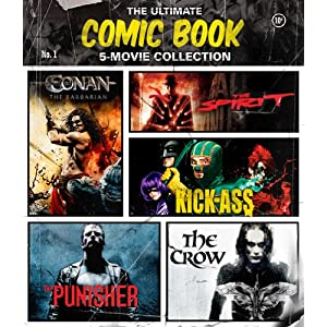 The Ultimate Comic Book 5-Movie Collection (The Crow / The Punisher / The Spirit / Kick-Ass / Conan the Barbarian) [Blu-ray] (2013)