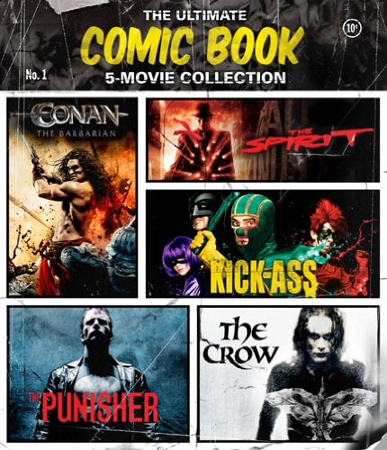 The Ultimate Comic Book 5-Movie Collection (The Crow / The Punisher / The Spirit / Kick-Ass / Conan the Barbarian) [Blu-ray] (Blu Conan Ray)