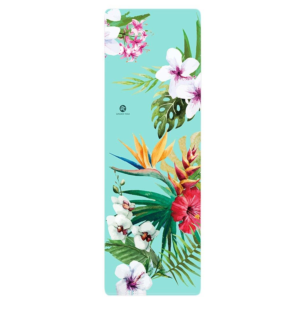 Thickness1.5mm GUorNG Tapis de yoga, profession de caoutchouc naturel Tapis de fitness Non-slip Pliable grandn Tapis de yoga Doux et confortable Antidérapant Tapis de yoga ( Couleur    7 , taille   Thickness1.5mm )