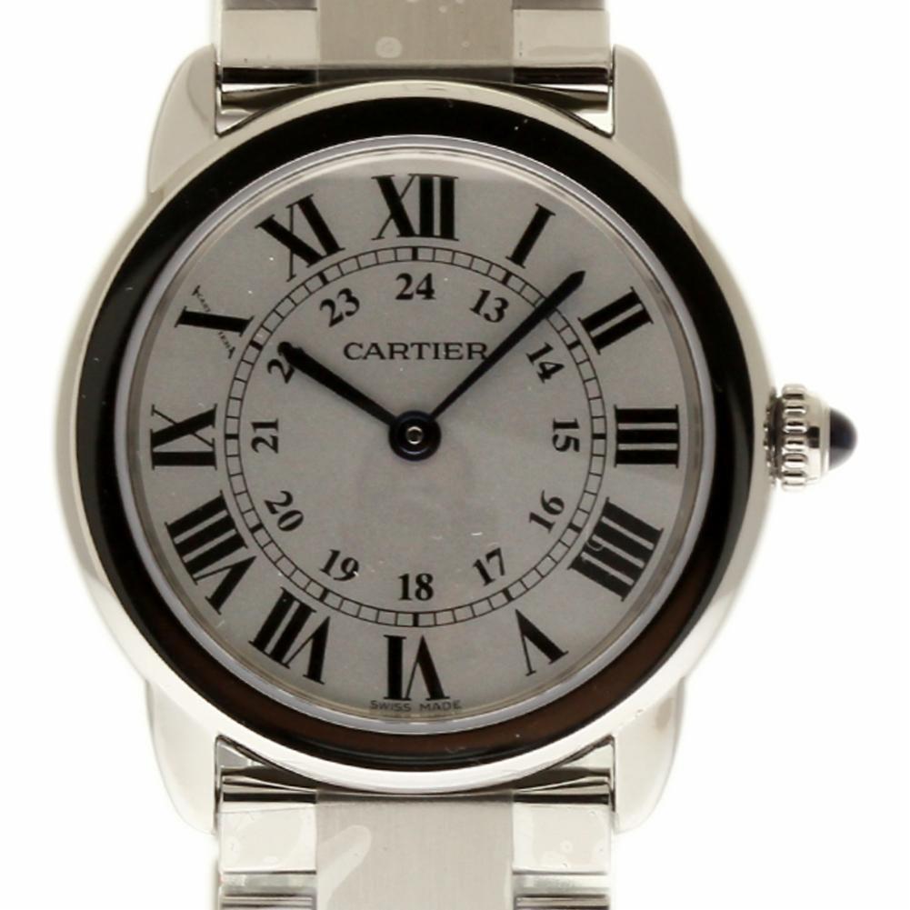 Cartier Ronde Solo swiss-quartz womens Watch W6701004 (Certified Pre-owned)