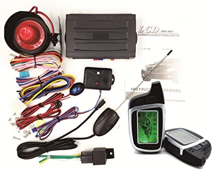 3000ft 2 Ways FSK communication range Car LCD Alarm Auto Security System Remote