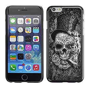 Paccase / SLIM PC / Aliminium Casa Carcasa Funda Case Cover - Top Hat Death Metal Cigar Rose Rock - Apple Iphone 6