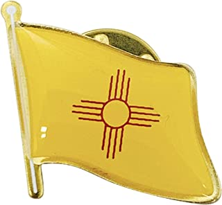 product image for Set of 6 New Mexico Single Waving State Flag Lapel Pin - Made in USA!