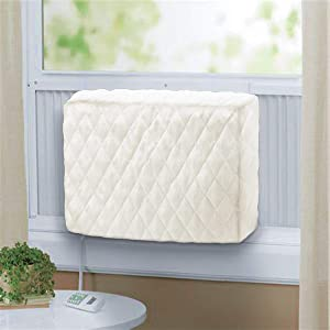 Forestchill Window A/C Indoor Winter Cover, Double Layer Insulation Inside Air Conditioner Unit Covers (28''L x 20''H x 4''D) Beige