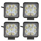 SHANREN Sharp Series 27W Square LED Work Light Lamp Off Road High Power ATV Jeep 4x4 Tractor 30 Degree Spot Light(4 Park)