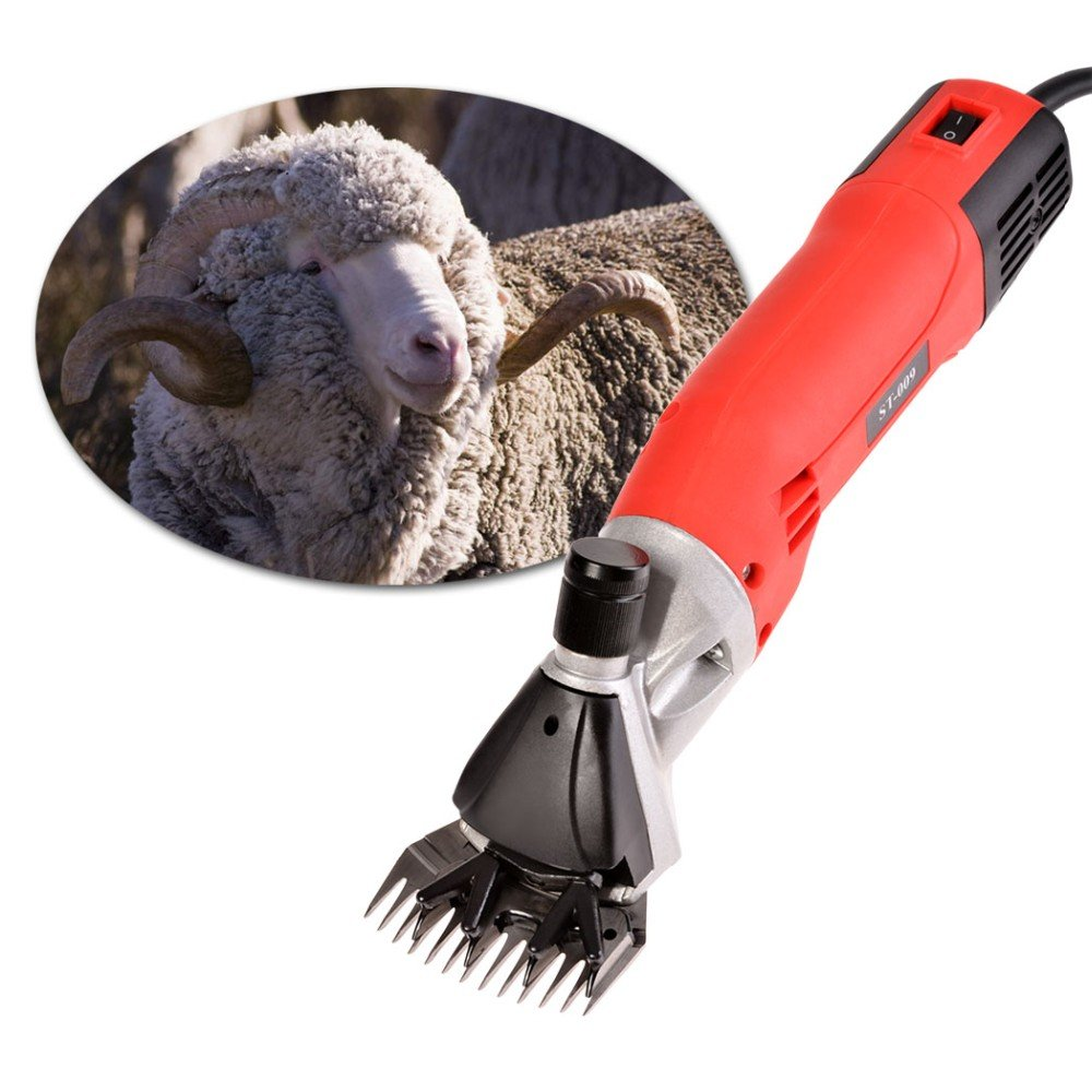 TOPCHANCES 500W Electric Adjustable Speed Sheep Shearing Machine Goat Clipper Scissors Shears with 13 Teeth Blade Sheep Clipper Cutter for for Animal Trim Hair Cutter 220V by TOPCHANCES