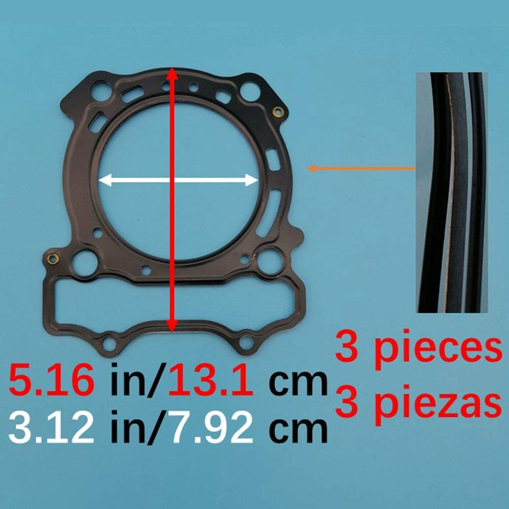 Tuzliufi Complete Rebuild Top Bottom End Engine Gasket Set Kit Replace YZ250F YZ250 YZ 250 F 250F 2001 2002 2003 2004 2005 2006 2007 2008 2009 2010 2011 2012 2013 New Z482