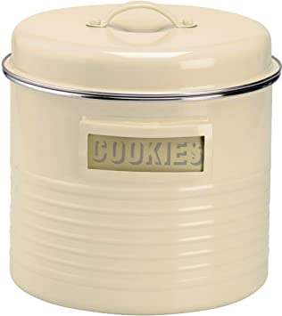 Amazoncom Typhoon Cream Steel Large Storage Canister Food Tins
