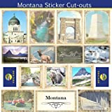 Montana Sightseeing Picture Sticker Cut Outs (60532)