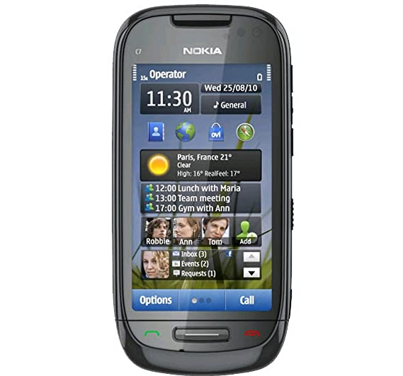 nokia c7 00 charcoal black amazon in electronics rh amazon in Nokia N8 Nokia N8