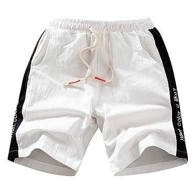 XuanhaFU Pantalones Hombre, Pantalones Cortos de Verano de ...