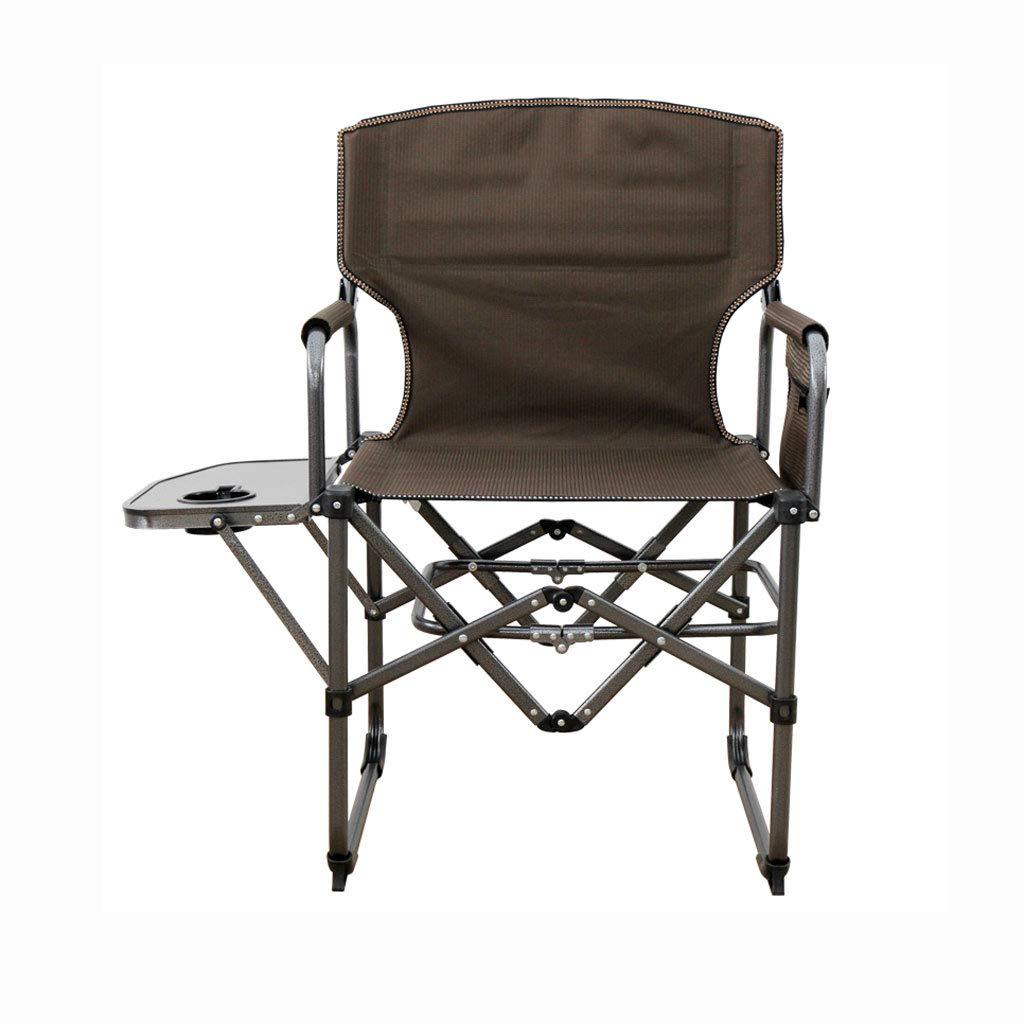 FH Klappstuhl, Outdoor Tragbarer Freizeit Klappstuhl Skizzieren Angeln Stuhl Direktor Stuhl 50 × 78 × 90 cm, Blau Braun Farbe Optional