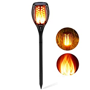 Aityvert Solar Flickering Flames Torch Lights Outdoor