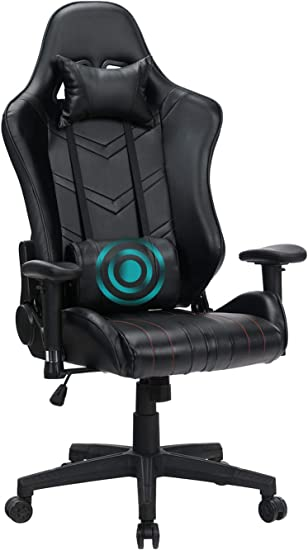 Reclining Chair With Adjustable Massage Lumbar Pillow And Footrest