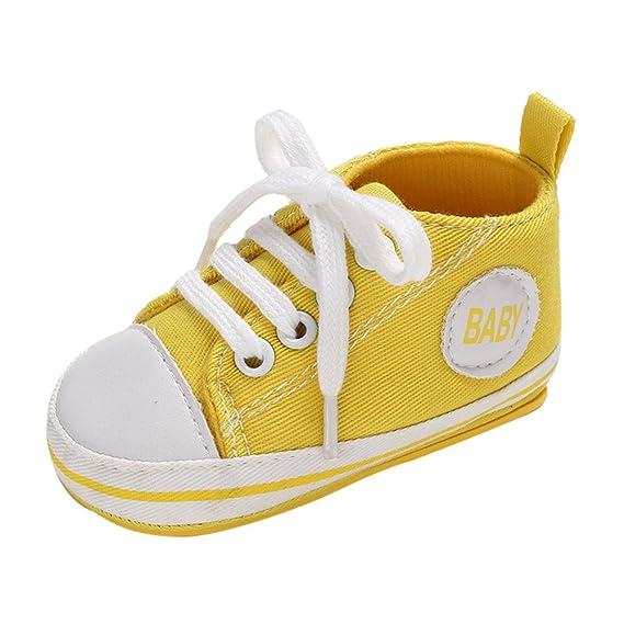 31806c21cd YanHoo Zapatos para niños Zapatos de bebé de Alta Denim Lace para niños  pequeños Bebé Denim Zapatos de Zapato de Corte Alto Zapatilla  Antideslizante Suela ...