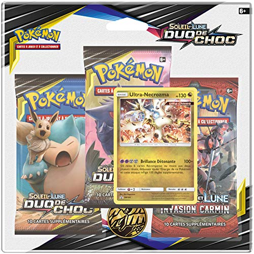 Pokemon Sun and Moon Shock Duo (SL09) - Pack of 3 Boosters, 3PACK01SL09, Collectors Cards