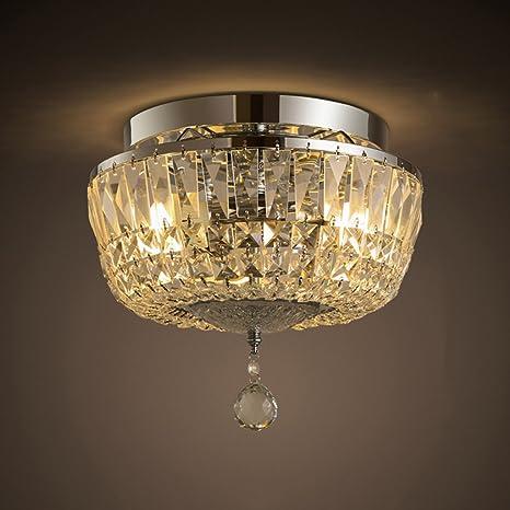 Buena Luces American Simple Cristal Lámpara De Techo ...