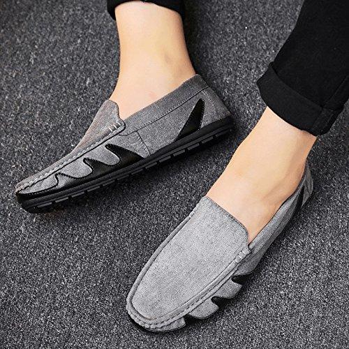 Liuxueping Gray Zapatos Salvaje Verano Lazy Personalidad Guisantes Individuales Casuales Coreanos De Vela Hombre rS4Owqr7