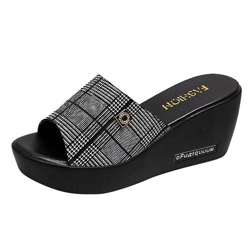 Sandalen Damen Sommer Mit Absatz Elegant Sandalette Plateau