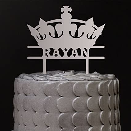 Buy Birthday King Cake Topper in White by Enrgave Online at Low ...