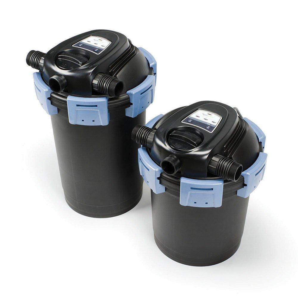 2,700 GPH Aquascape 95053 UltraKlean 2000 Gallon Biological Pressure Filter with 14 Watt UV Clarifier Sterilizer for Pond Water Feature