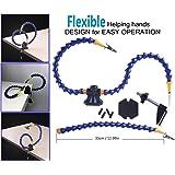 Flexibel Helfende Hände , Loeten Dritte Hand löthilfe , Lötstation Werkzeug (Zwei flexible ungewöhnliche Arme, 5cm Pinch Clip Einstellbarer maximaler Platz ) by LITEBEE