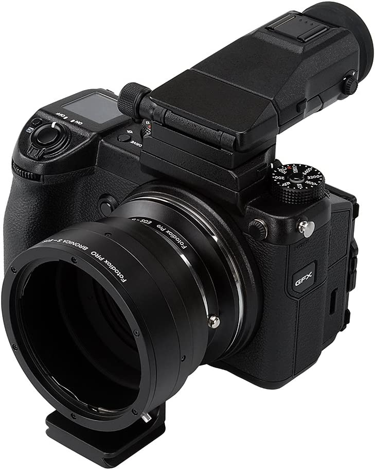 Such as GFX 50S and More D//SLR Lenses to Fujifilm G-Mount GFX Mirrorless Digital Camera Systems Bronica S Mount and Canon EOS EF//EF-S Fotodiox Pro Lens Mount Double Adapter