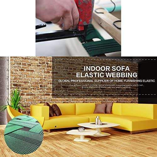 Homend Sofa Elastic Webbing Stretch Band Furniture Repair DIY Upholstery Modification Elasbelt Chair Couch Material Replacement Stretchy Spring Alternative 3 Wide x 40 Length