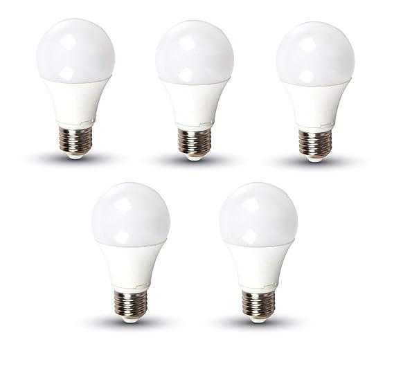 Kit 5 bombillas LED 11 W Bulb A58 Chip Samsung V-TAC Pro Casquillo E27