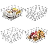Food Storage for Kitchen Cabinets,Farmhouse Decor Organizer Storage Bin Basket with Handles,Pantry, Closet, Bedroom…