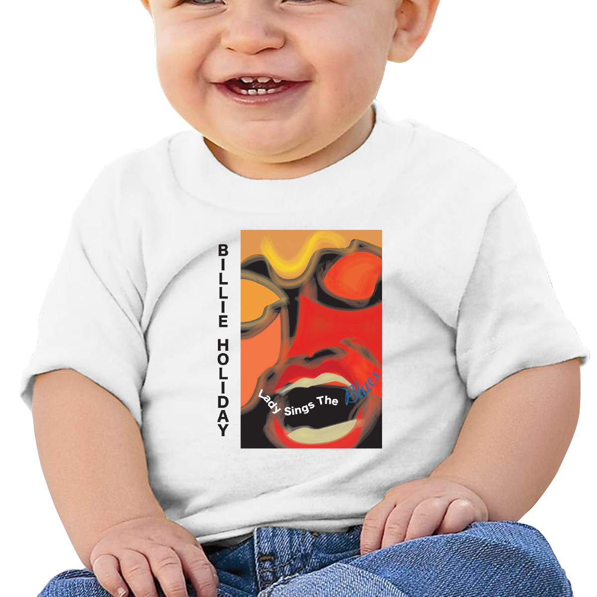 Kangtians Baby Billie Holiday Lady Sings The Blues Shirt Toddler Cotton Tee
