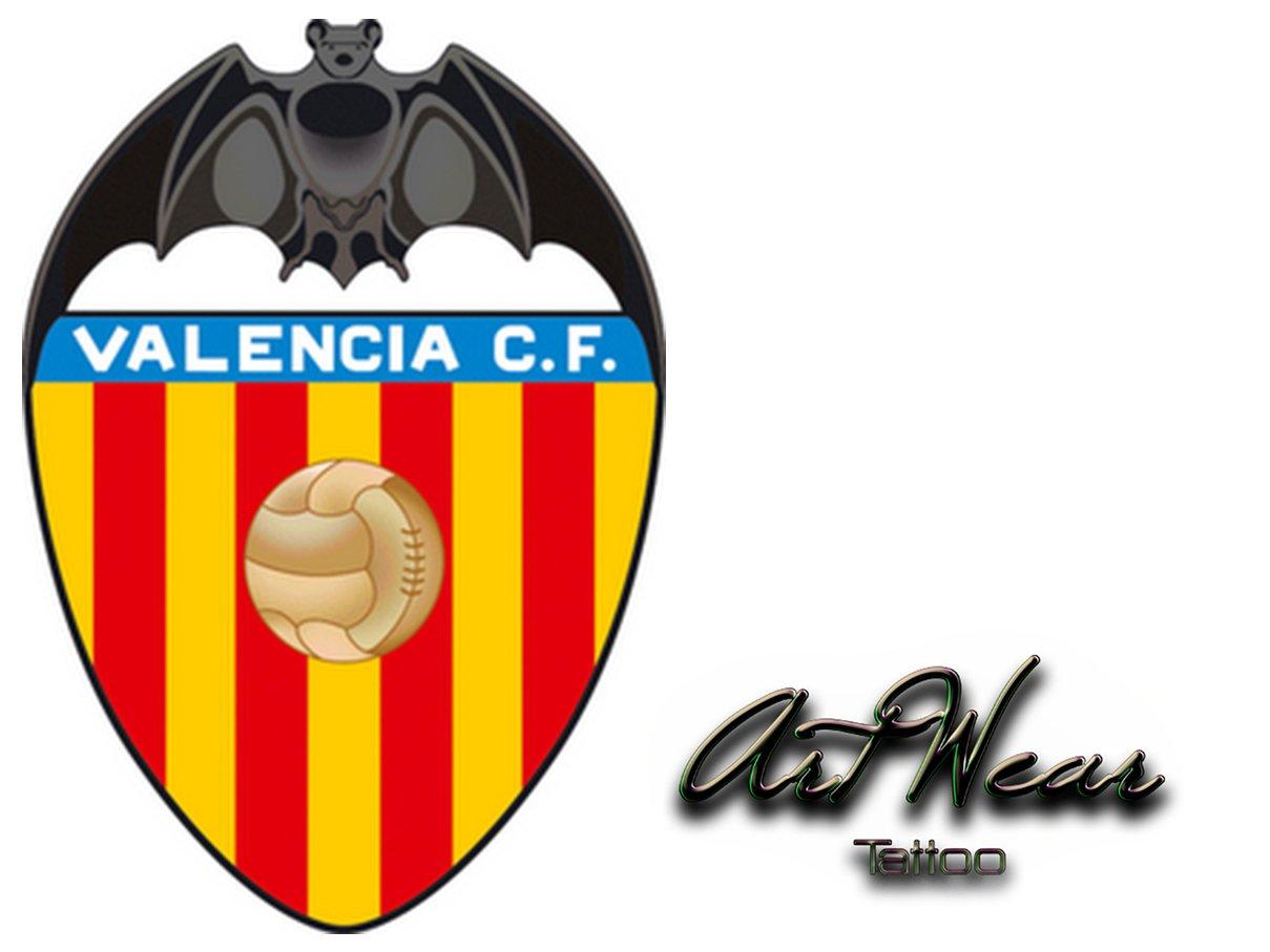Tatuaje Temporal Equipe fútbol – España Valencia CF – artwear ...