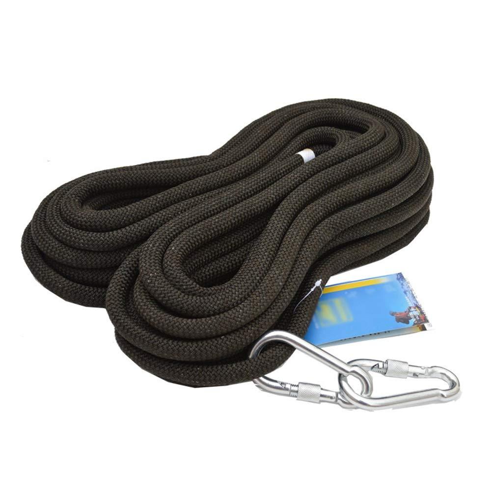 RKY Corde de sécurité noire d'équipement de sports de plein air corde de baisse de vitesse de 12mm corde statique de corde de sécurité de travail aérien, 13 tailles Corde de sécurité (Taille   10M) 10M