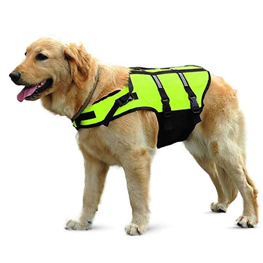 WLDOCA Dog Life Jacket,Dog Life Vest with Top Handle and Reflective Straps/Lifesaver Jacket for Dog,L