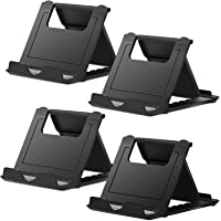 Cell Phone Stand, 4 Pack Tablet Stand, Universal Foldable Multi-Angle Pocket Desktop Holder, Compatible with iPhone 11…