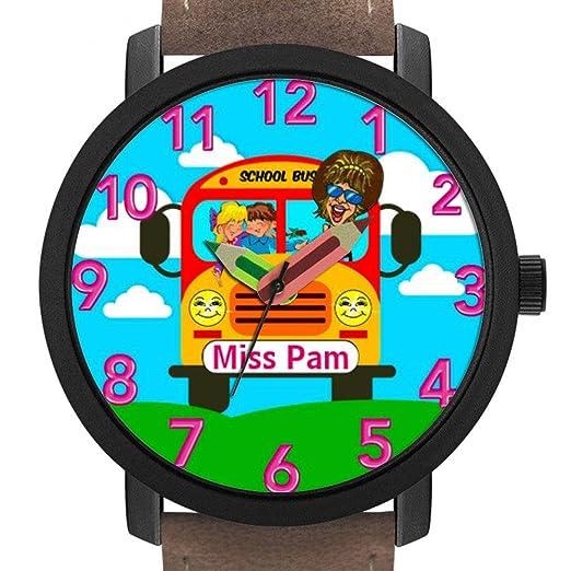 Bonito Reloj de Pulsera con Forma de lápiz, Regalo 041. Best Bus Driver Gifts Personalized Women es Relojes: Amazon.es: Relojes