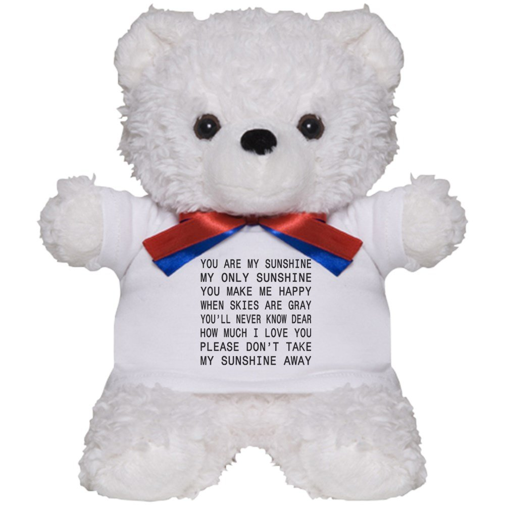 Amazon Com Cafepress You Are My Sunshine Teddy Bear Plush