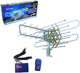 Outdoor Antenna Ant-850 HDTV Outdoor-Motorized Rotating with Remote, HD VHF/UHF/FM TV Antenna