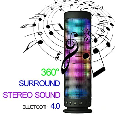Mini Wireless Portable Bluetooth Audio Speaker with Colorful Led Light