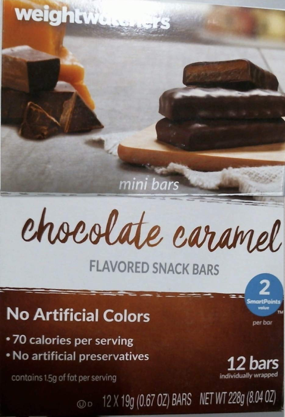 Amazon Com Weight Watchers Chocolate Caramel Mini Bars Other
